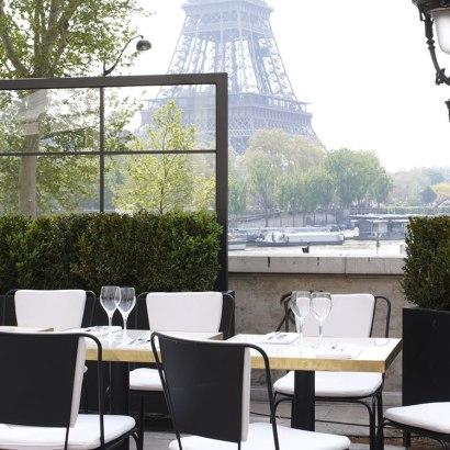 Monsieur Bleu, Paris restaurant, Palais de Tokyo. Terrace