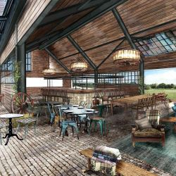 Soho Farmhouse, Great Tew Estate near Titbury. By the Soho House Group.  Interiors of the barn
