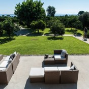 A beautiful 1930 old house was renovated into a design hotel in the middle of the countryside but with view of the sea.  It's in Eastern Sicily, in the province of Catania and only  1.7 km from beaches.