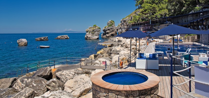 Capo Galo near Naples, Italy, one of 13 beach boutique hotels with a heated pool found on http://fromthepoolside.com.