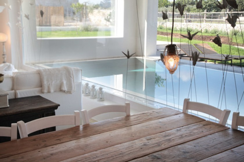 Masseria Prosperi, Puglia, Italy, one of 13 beach boutique hotels with a heated pool found on http://fromthepoolside.com. They also have animals so really nice for little ones.