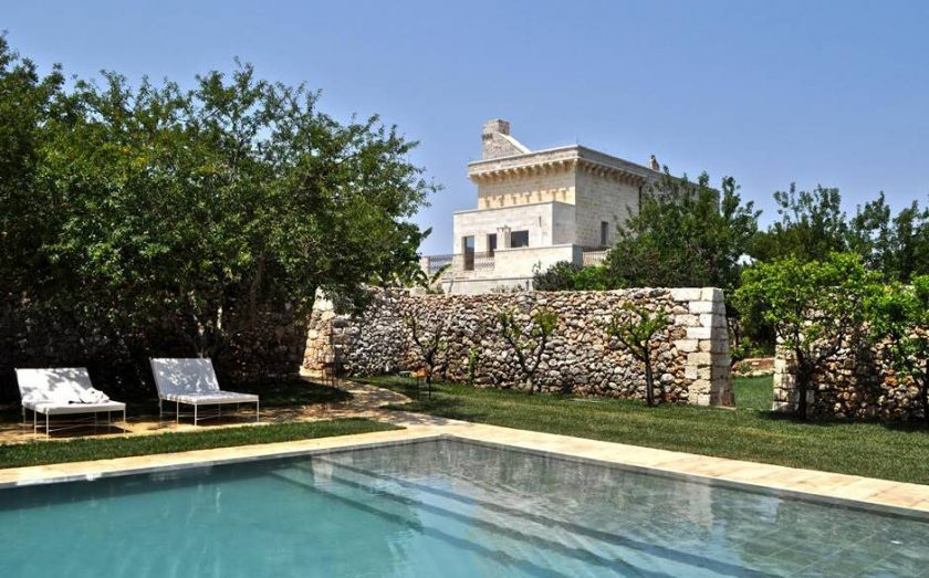 Masseria Trapana in Puglia, Italy opened in August 2015. One of 13 beach boutique hotels with a heated pool found on https://fromthepoolside.com.