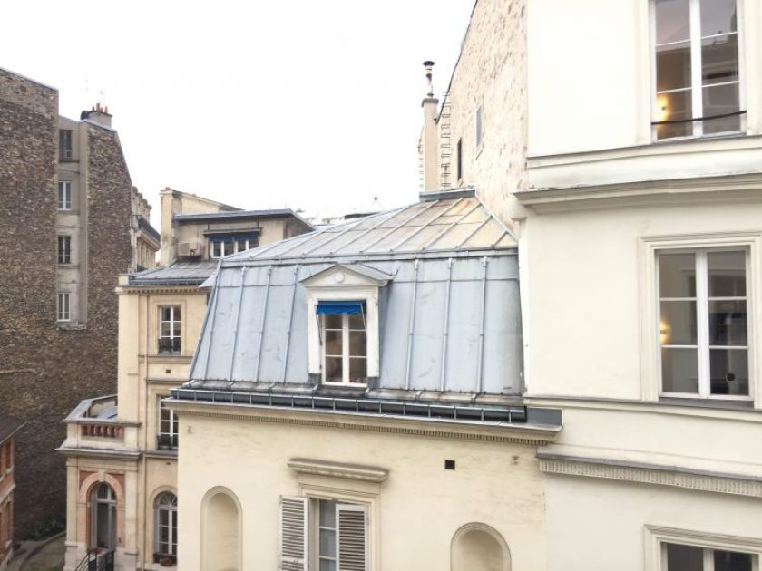 View from my bedroom at Hotel Arvor, Paris.