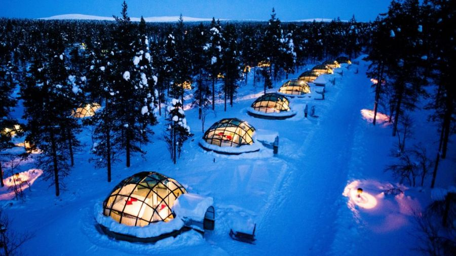 Kakslauttanen Igloos,a dream hotel in Finland, one of the happiest countries in the world.