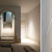 I am very attracted to the beautiful minimalism and the intimate nature of this beautiful restored building in Lisbon!