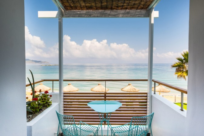 16 stylish beach hotels with pool in greece to book now. Black Bedroom Furniture Sets. Home Design Ideas