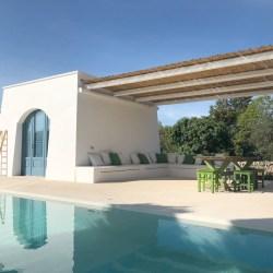 Trullo M, a villa rental with pool in Puglia with beautiful pared down decor