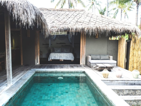 Slow Gili Air, one of the best villa with pool by travel bloggers