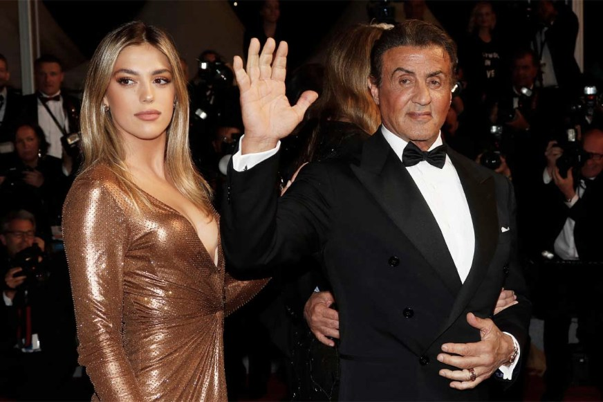 Sylvester Stallone's Daughter Visits The Set Of Her Father ...