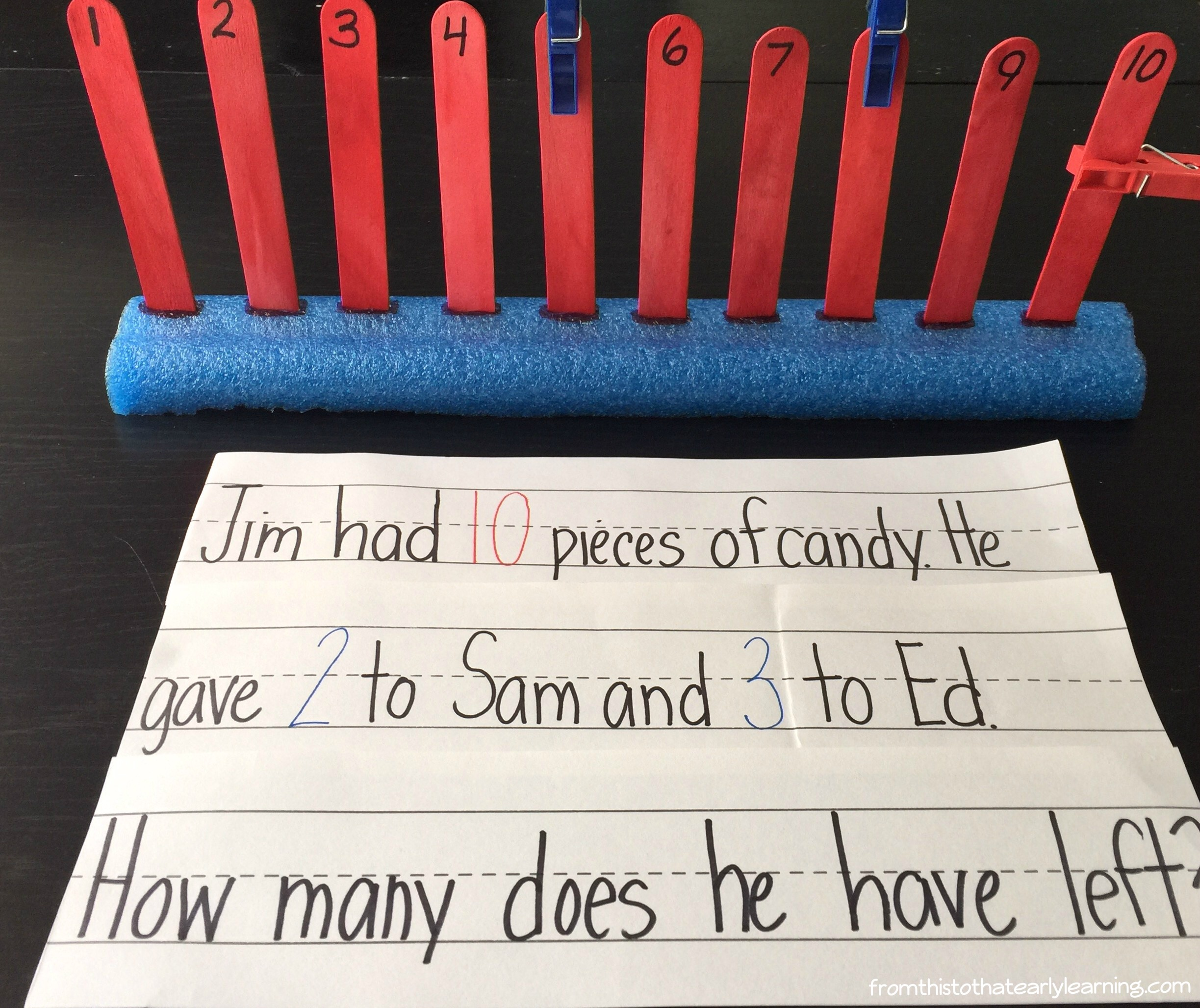 6 Ways To Use Pool Noodles As A Number Line From This To