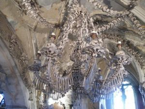 Sedlec Ossuary chandelier 300x225 - My Bucket List - places to visit