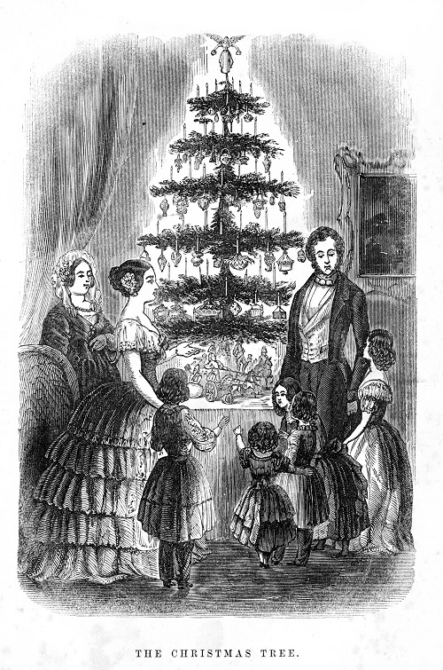 First Christmas Tree in Britain 1846 Illustrated London News - How the Christmas Tree was born