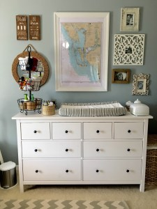 Nursery Dresser Organization by From Under Palm Tree