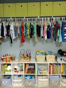 Nursery Closet Organization by From Under a Palm Tree
