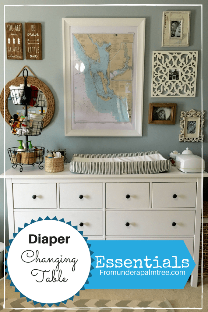 What do I need for a diaper changing table | Baby organization | nursery organization | new baby | getting ready for a new baby | baby changing table | organization baby changing table | baby changing table | baby essentials |