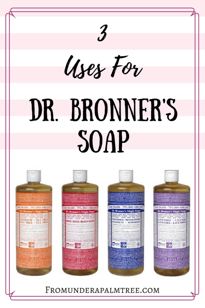 Are you looking for an environmentally friendly soap that has multiply uses? Dr. Bronner's soap is the perfect multi-use soap. Here are my top 3 favorite uses for it. | Dr. Bronner's Soap | Uses for Dr. Bronner's soap | cruelty-free sopa | environmentally friendly soap |