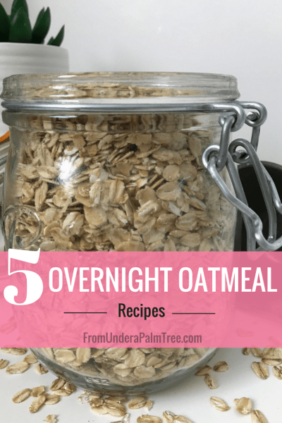 5 Overnight Oatmeal Recipes by From Under a Palm Tree