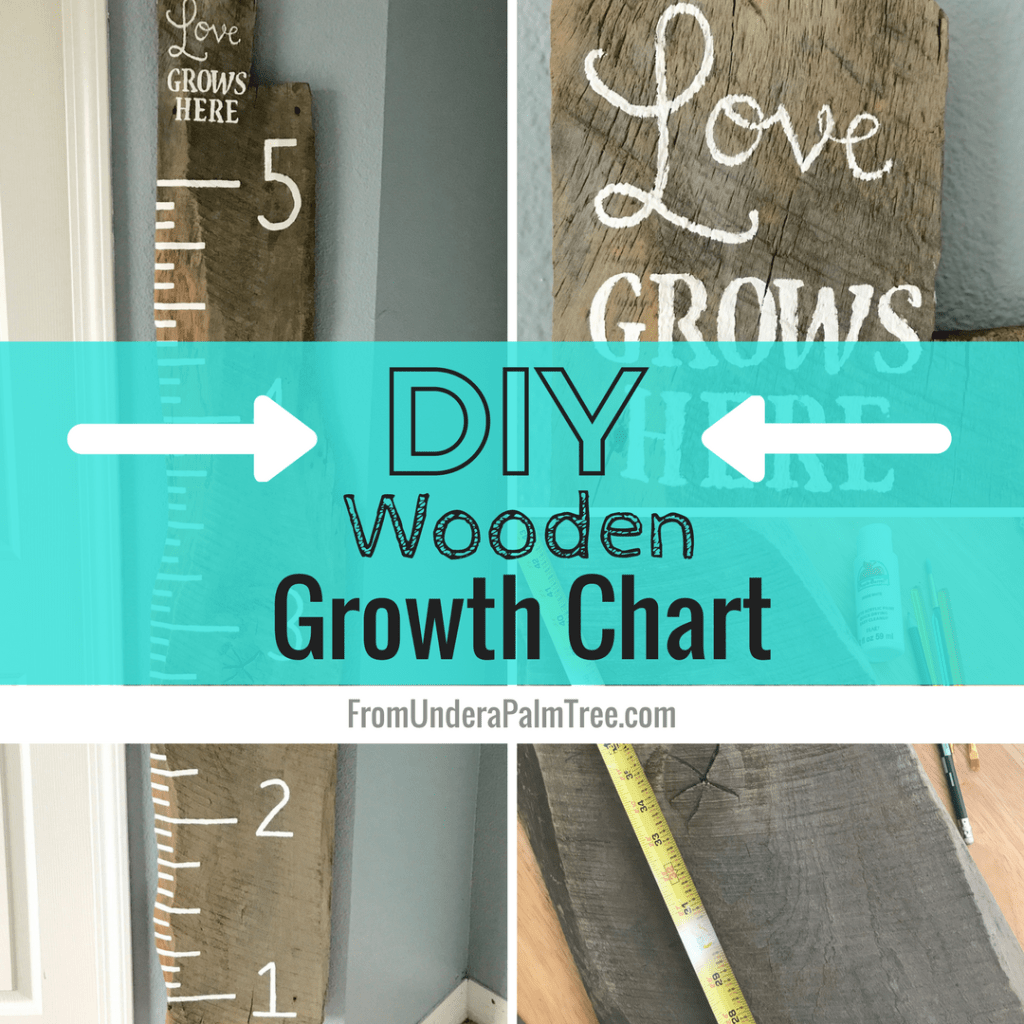 Diy Wooden Growth Chart From Under A Palm Tree