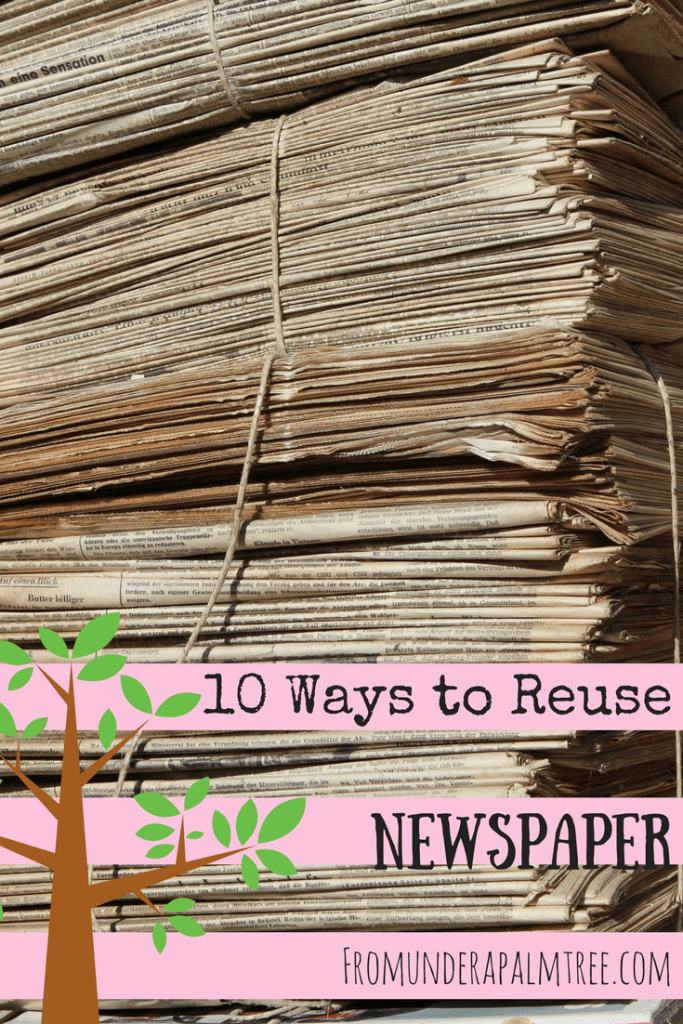10 Way to Reuse Newspaper by From Under a Palm Tree