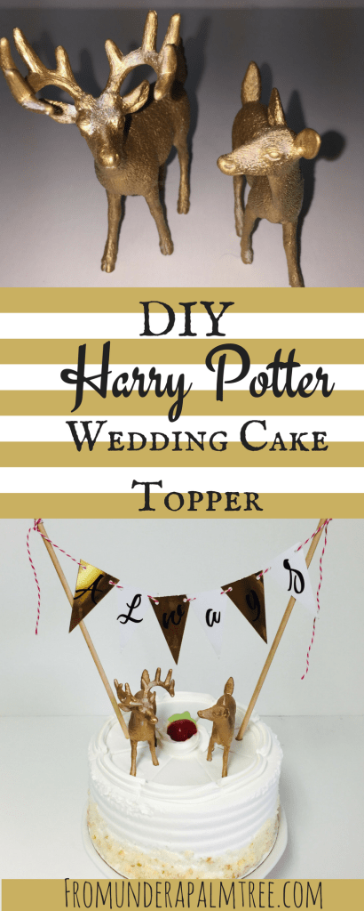 DIY Harry Potter Wedding Cake Topper | Harry Potter Inspired Wedding Cake Topper | DIY Harry Potter Wedding Cake Topper | Always | Harry Potter Wedding Cake Topper | Nerdy Wedding Cake Topper | DIY | Rustic Romantic Wedding Cake Topper | Rustic Wedding Cake Topper |