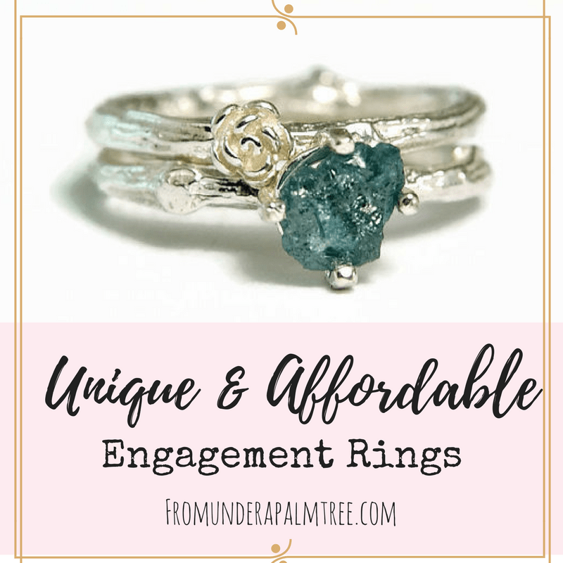 Unique And Affordable Engagement Rings From Under A Palm Tree