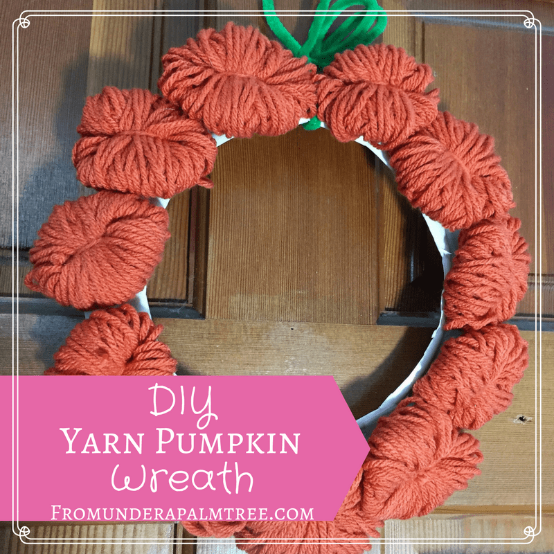 How to make yarn pumpkins | making yarn pumpkins | DIY holiday wreath | DIY fall wreath | DIY yarn pumpkins | DIY yarn wreath | DIY | crafts | yarn crafts | pumpkin crafts | Halloween Pumpkin Wreath | Lifestyle Blog | Sustaimability |