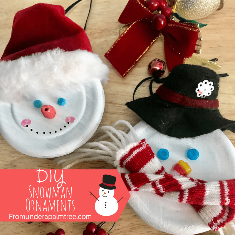 DIY Snowman Ornaments | DIY Christmas Ornament | DIY Holiday Ornament | DIY ornament | Snowman Ornament | DIY | Crafts | merry Christmas | Happy Holidays |