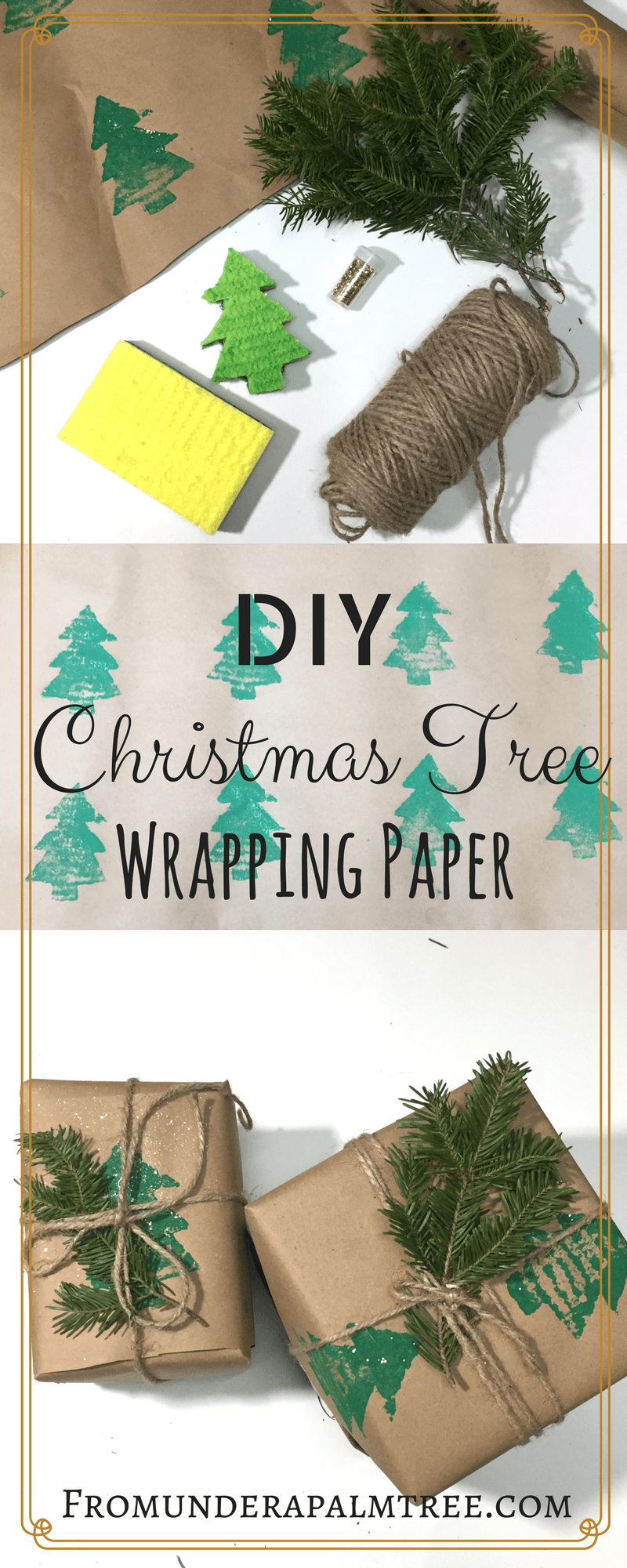 DIY Christmas Tree Wrapping Paper | DIY Christmas Wrapping Paper | DIY | Christmas Wrapping Paper | Christmas Tree Wrapping Paper | Gift Wrapping | Christmas gift wrapping | Sustainable wrapping paper | Green gifts | Green wrapping paper | eco-friendly wrapping paper | eco-friendly | sustainable living |