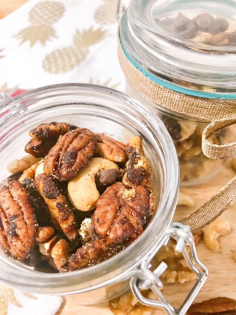 How to make cinnamon sugar candied nuts   Cinnamon Sugar Nuts   Cinnamon Sugar   Cinnamon Sugar Candied Nuts   easy   recipe   candy recipe   DIY   holiday snacks   snacks   party food   sweat treat   recipe   walnuts   pecans   cashews   nuts  