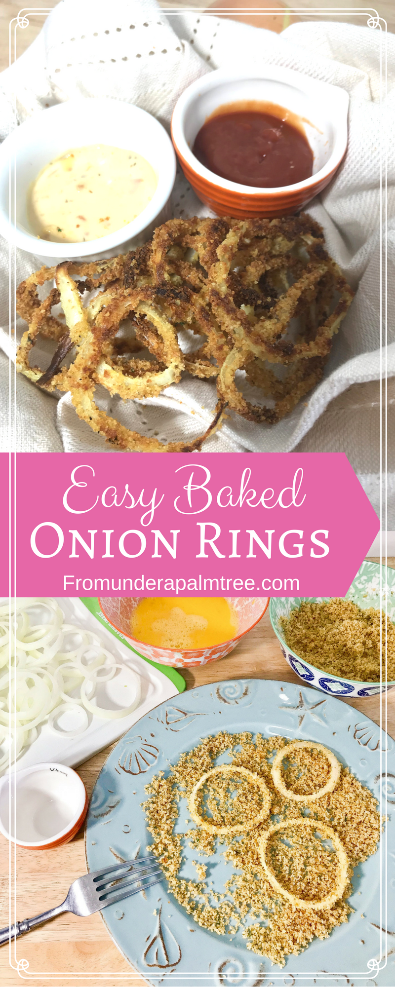 Easy Baked Onion Rings | Homemade | recipe | baked | easy | sauce | healthy | how to make | home | sweet onion | simple |