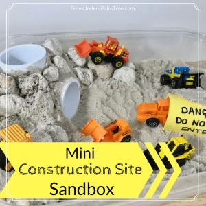 Mini Construction Site Sandbox