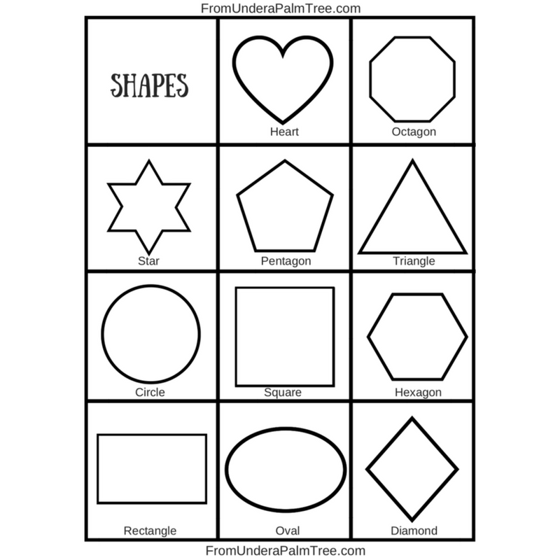 shape recognition worksheet | shape recognition printable | shape recognition for preschoolers | free printable | shape recognition for toddlers | free shape recognition activity printable | how to teach your toddler shapes | how to teach your preschooler their shapes | DIY | DIY learning | learning activity for toddlers | learning activity for preschoolers | sensory play | shapes |