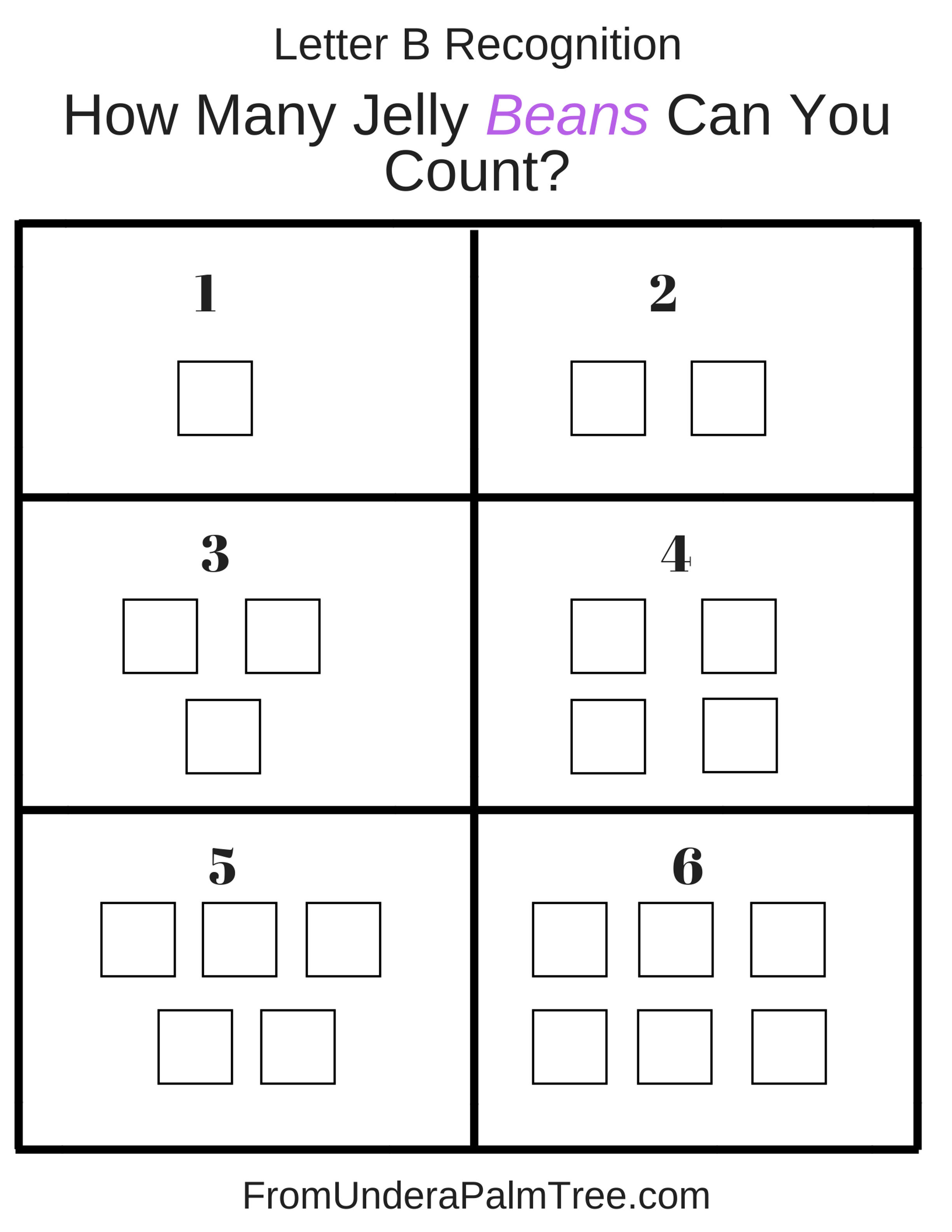 Jelly Bean Patterning Worksheet