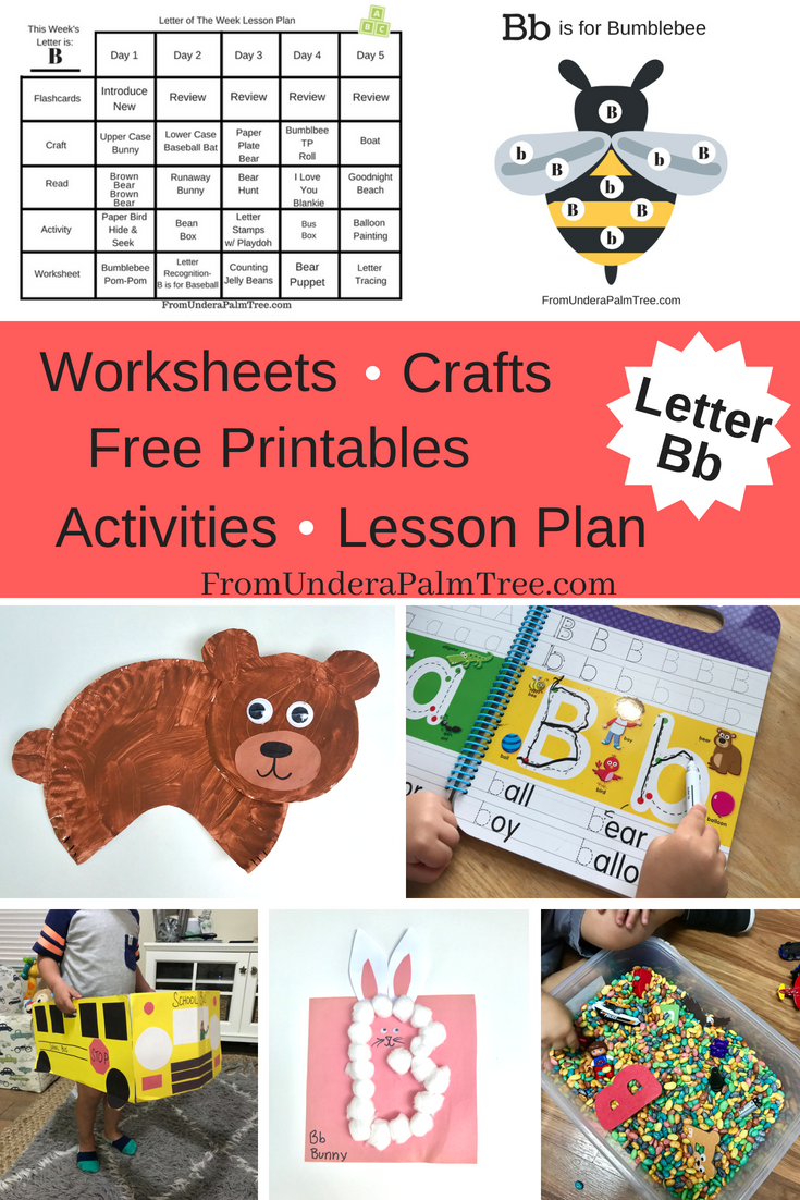 Letter B worksheets | free letter b printables | alphabet printables | free printable worksheets for preschoolers | free printables | worksheet | letter B worksheet for preschooler | letter B activities | letter B activities for preschoolers | letter B activities for toddler | letter B crafts for preschoolers | Letter B printables | letter B crafts for toddlers | letter B activities | letter B crafts | letter b activities for preschoolers | letter B activities for toddlers | letter B lesson plan for preschoolers | Letter B activities for home schoolers | home school lesson plan for preschool | home school lesson plan for toddler | letter B games | letter B sensory play | letter B motor skills | practicing letter B | teacher | mom teacher | stay at home mom activities for kids | activities for kids | learning games | games to play with toddler | how to teach a toddler the alphabet | best way to teach a toddler the alphabet | teach a preschooler the alphabet | ABC play | learning the ABCs | fun kids crafts | From Under a Palm Tree
