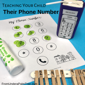 teaching your child their phone number | preschool activities | preschooler activities | learning phone number | teaching phone number | how to teach my child their phone number | math activities | number activities for preschooler | math activities for preschooler | prek homeschool activities | preK activities | thinking skills for preK | how to teach a 3 year old their phone number | phone number practice |