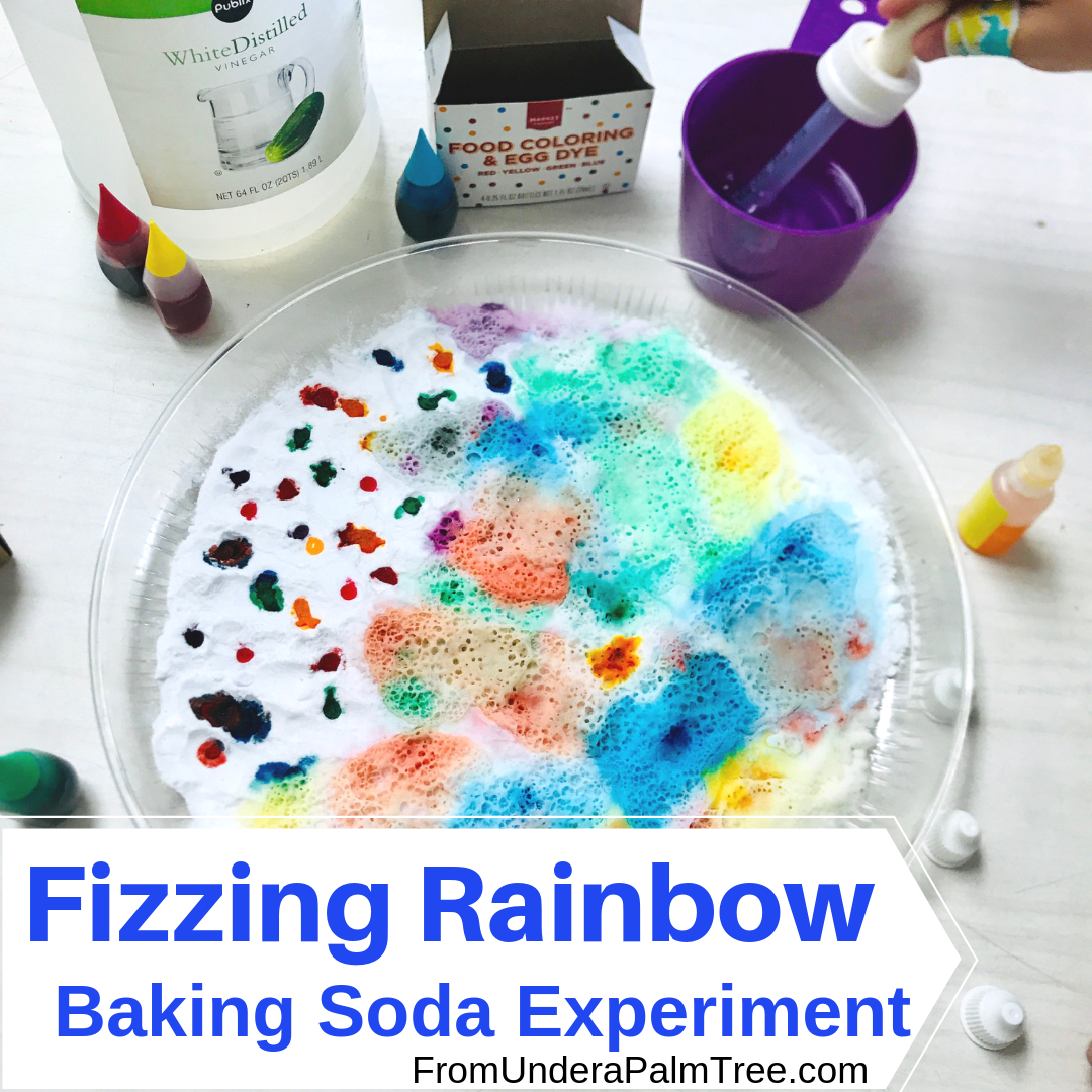 Fizzing Rainbow Baking Soda Experiment
