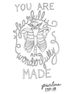 Psalm 139:14 Coloring Page