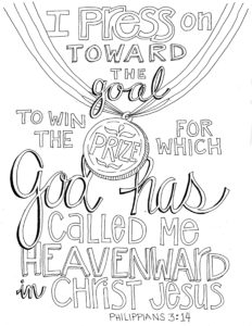 Press on Toward the Goal Coloring Page