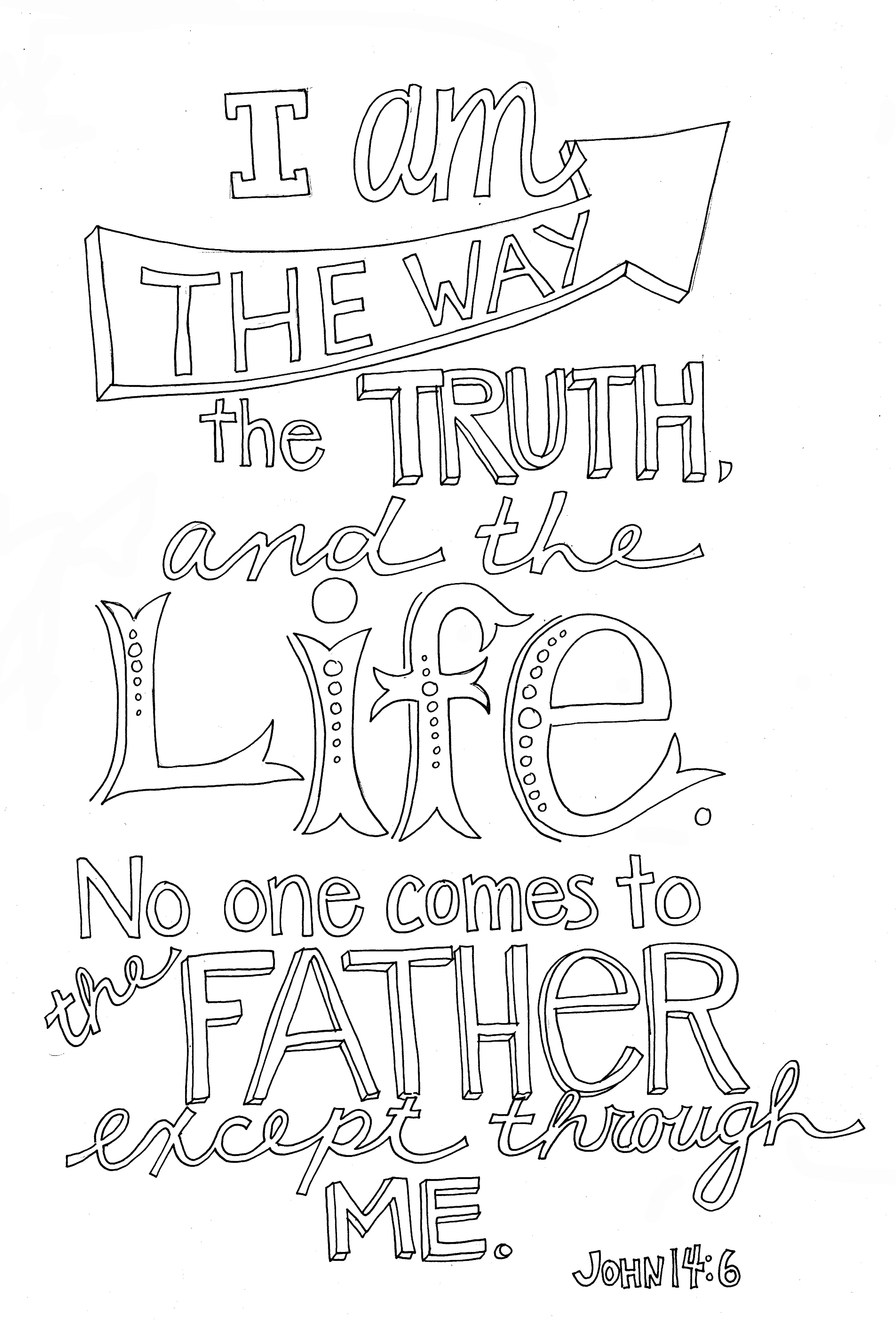 John 14 6 Coloring Page From Victory Road