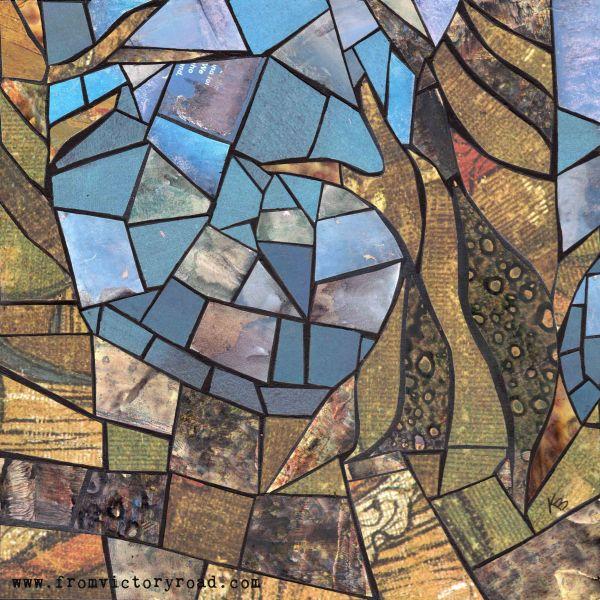Paper Mosaic Tree