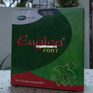 Травяные капсулы от кашля Eugica Fort 100 шт