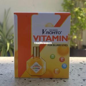 Капли для глаз V Rohto Vitamin