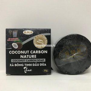 B.M.B Coconut Carbon Nature кокосовое мыло с активированным углем 95г