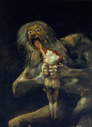 Saturn Devouring One of His Sons, 1821-23. Museo del Prado, Madrid