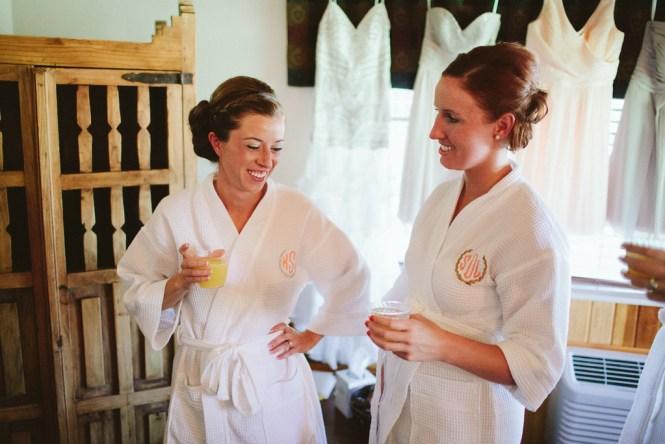 Bridal Party Prep Robes Mimosas Saratoga Inn