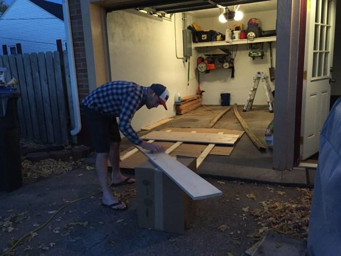 Jesse Simple Rustic Pine DIY Headboard