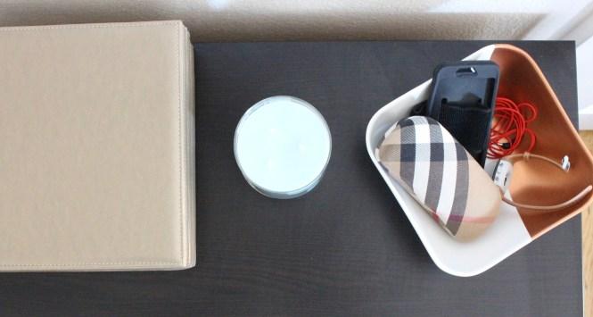 Dresser top organization rose gold dip painted bowl DIY narrow