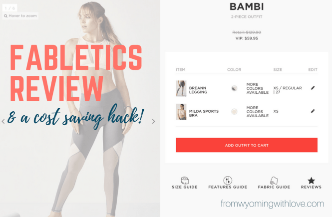 Fabletics Review plus a cost saving hack
