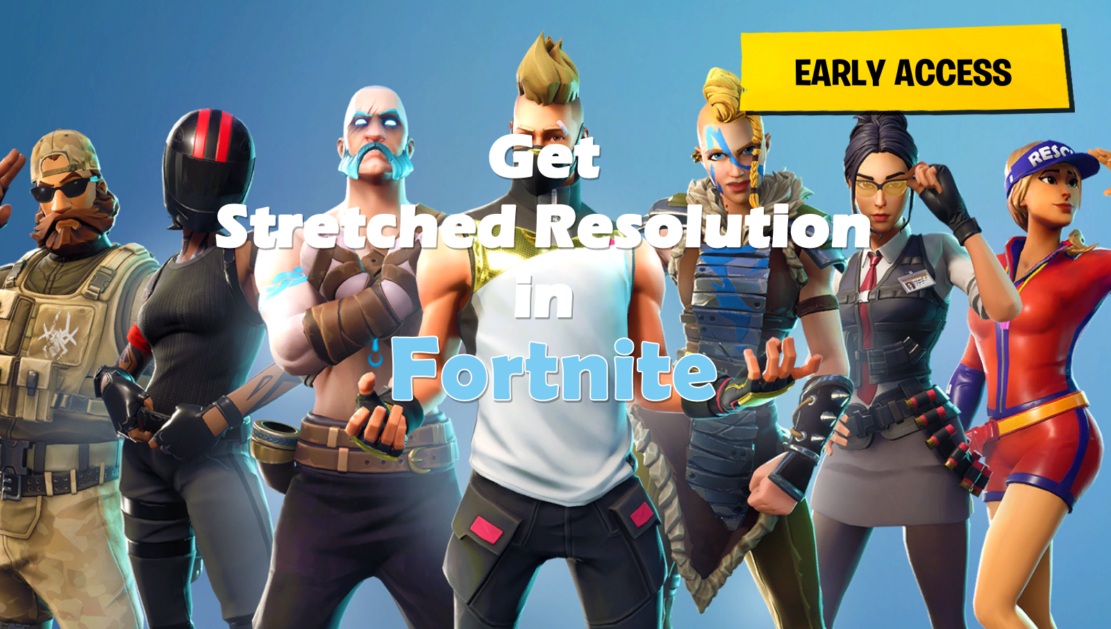How to get stretched resolution in Fortnite Battle Royale - Frondtech