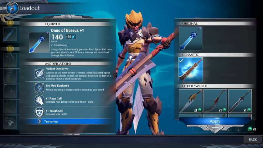 Dauntless - How To Change Color Or Skin Of Weapons And